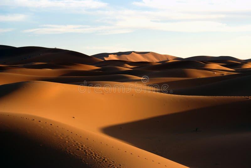 Dune di sabbia del deserto di Sahara immagini stock
