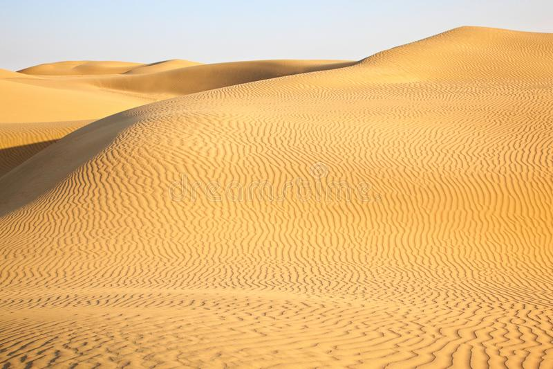 Dune di sabbia del deserto Thar fotografia stock libera da diritti