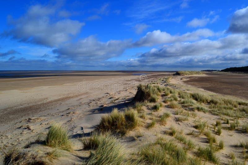 Dune di sabbia di Holkham fotografia stock