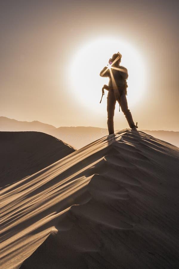 Dune di sabbia Sunstar fotografie stock