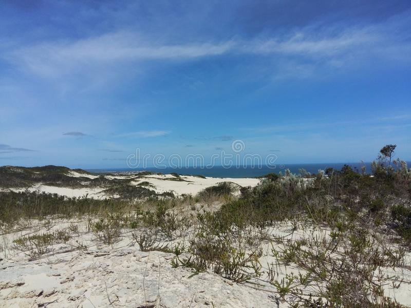 Dune di sabbia vicino a Cape Town fotografie stock libere da diritti