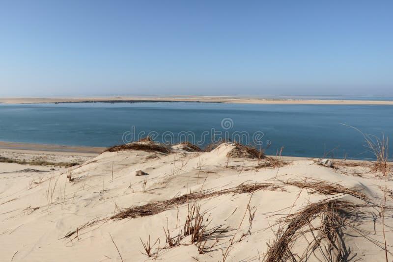 Dune du Pilat en ciudad del pyla de Arcachon la duna de arena más grande de Europa Francia imagenes de archivo