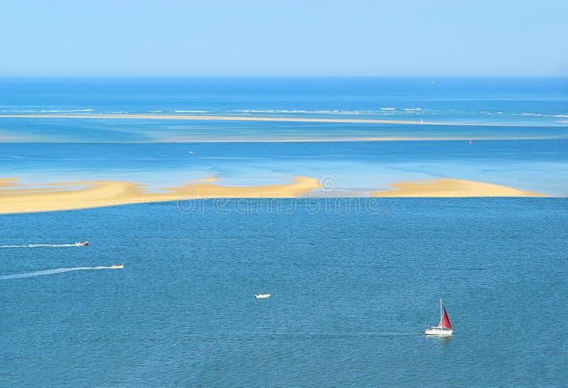 Download Dune du Pyla sand spit stock photo. Image of blue, ocean - 18701630
