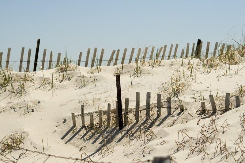 Dune et frontière de sécurité de sable image libre de droits