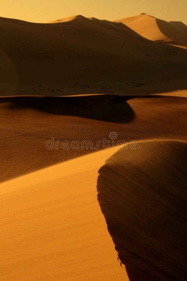 Dune glow. Away from God and far from the action stock photo