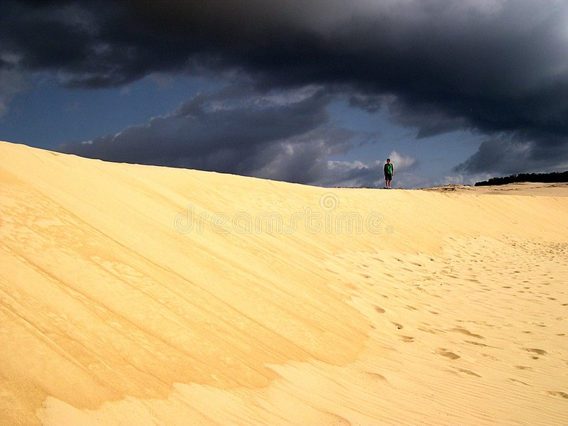 Download Dune over grey skies stock photo. Image of storm, approaching - 151904