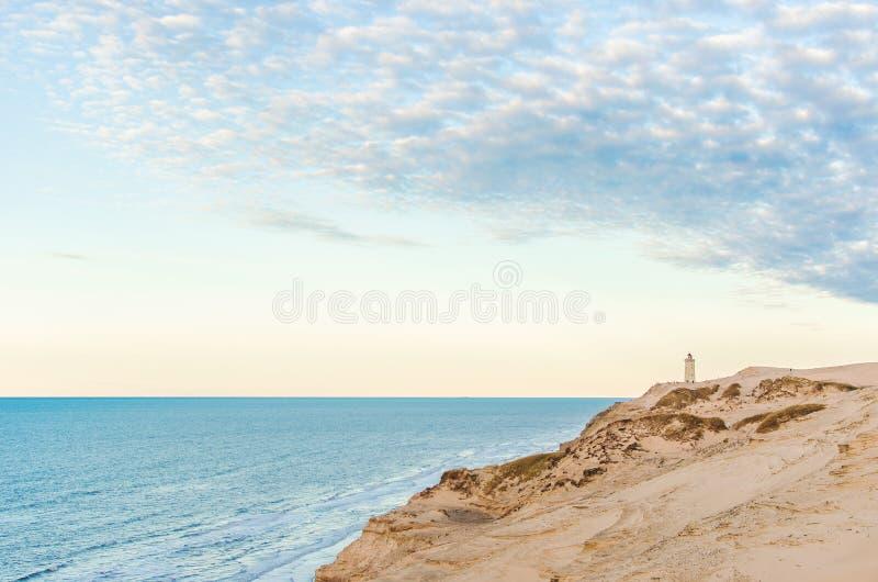 Dune a Rubjerg Knude nel Nord di Denmarks immagini stock libere da diritti