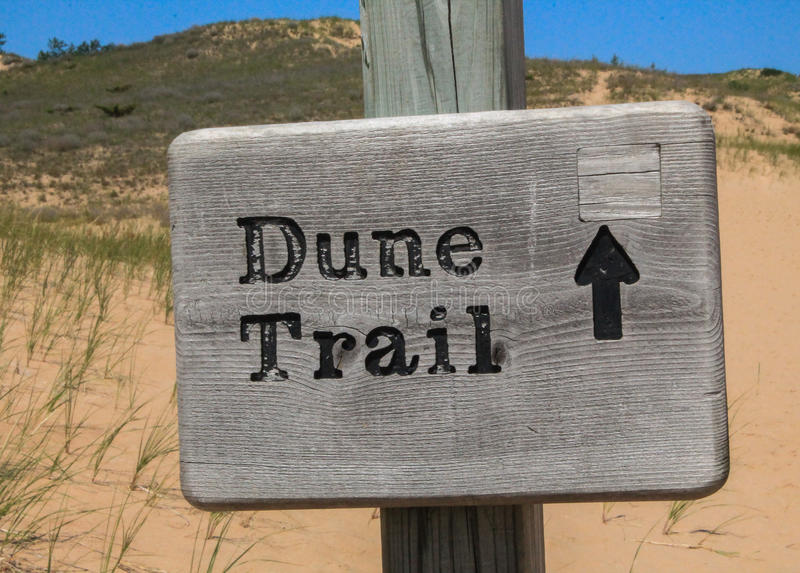 Dune Trail - sign royalty free stock photography