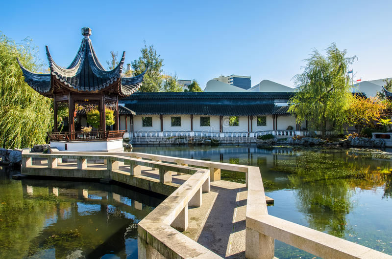 The Dunedin Chinese Garden In New Zealand. Editorial Photo ...