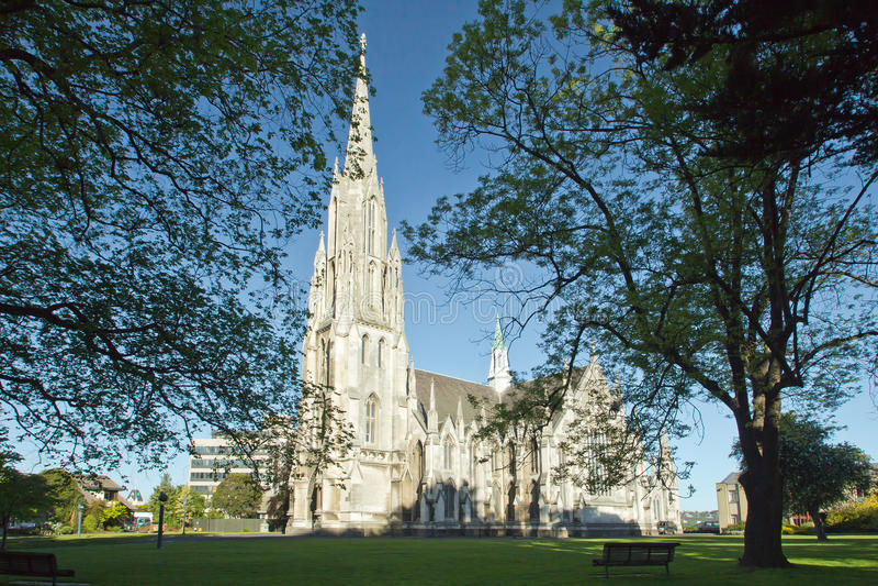 Dunedin första kyrka royaltyfri bild