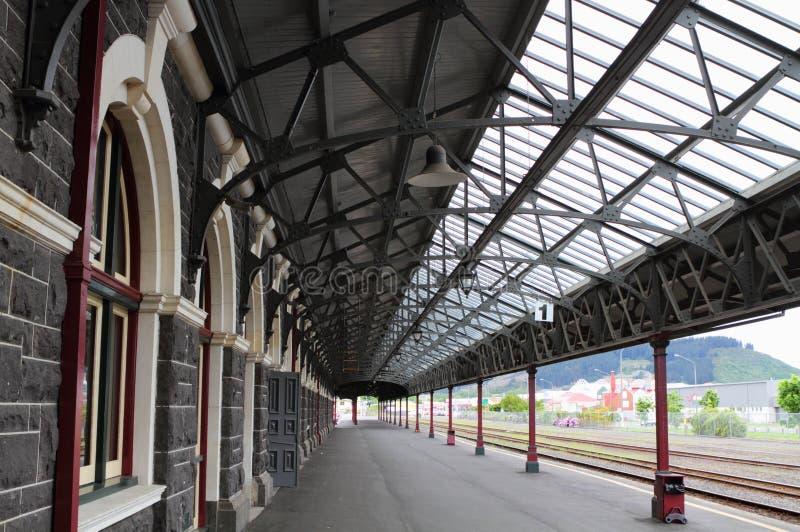Dunedin Railway Station stock photo