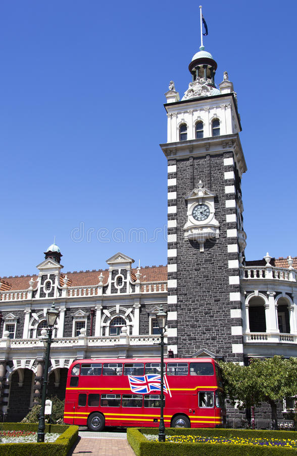 Dunedin Railway Station royalty free stock image