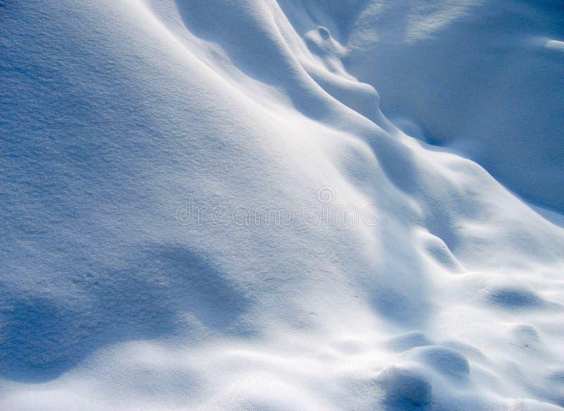 Dunes 1 de neige image libre de droits