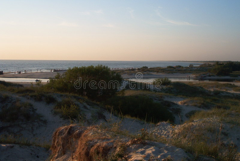 Download Dunes stock photo. Image of dene, evening, dune, baltic - 136192