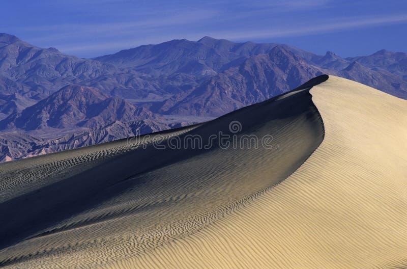 Dunes de sable dans Death Valley photographie stock libre de droits