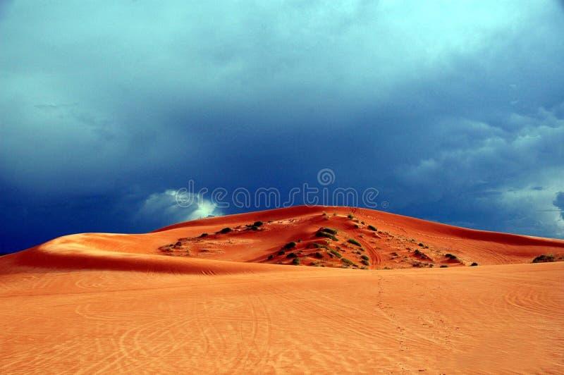 Dunes de sable de corail photographie stock