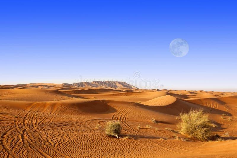 Dunes de sable de Dubaï image libre de droits