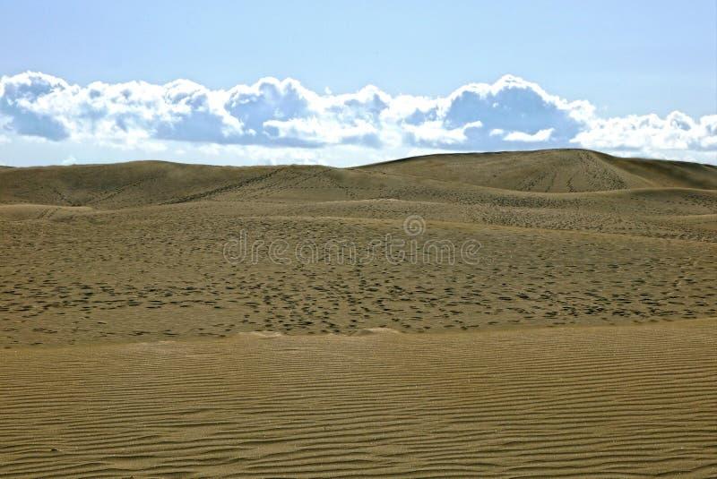 Dunes de sable de Maspalomas, mamie Canaria l'espagne photographie stock libre de droits