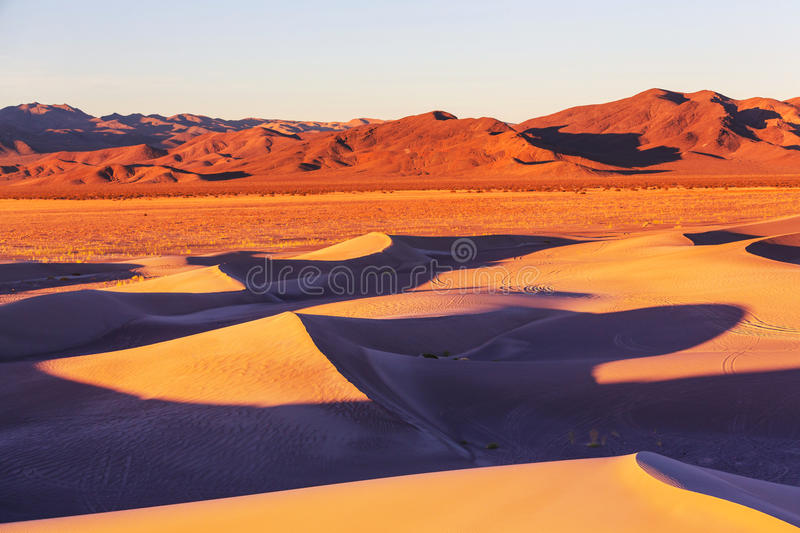 Dunes de sable en Californie photographie stock