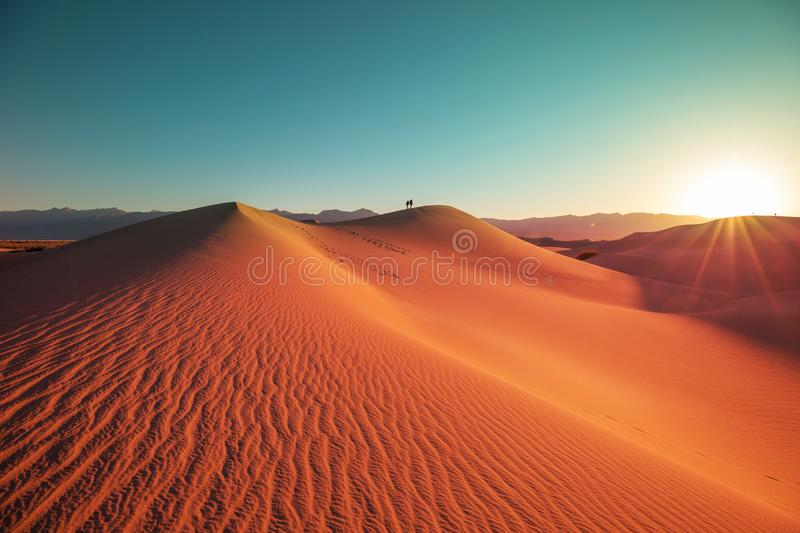 Dunes de sable en Californie image stock