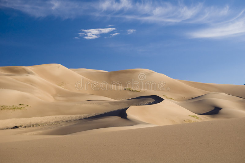 Dunes de sable grandes images libres de droits