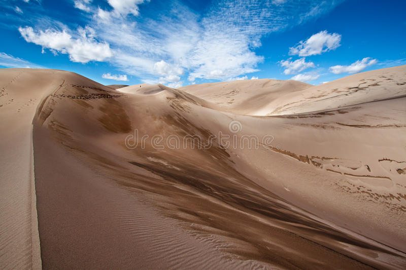 Dunes de sable grandes stationnement national, le Colorado photo libre de droits