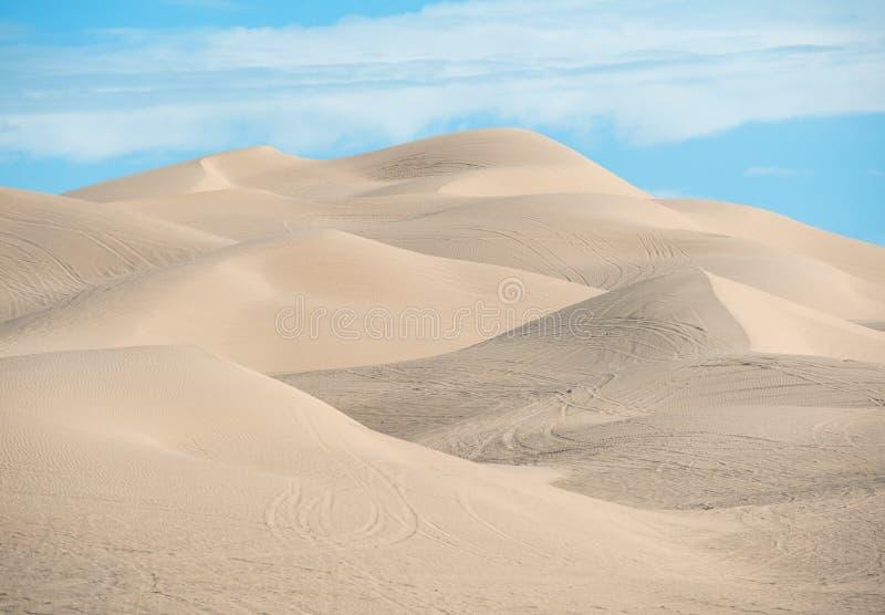 Dunes de sable impériales, la Californie du sud image stock