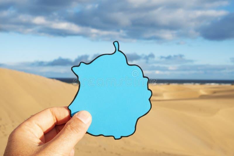 Dunes de sable de Maspalomas dans Gran Canaria, Espagne photo stock