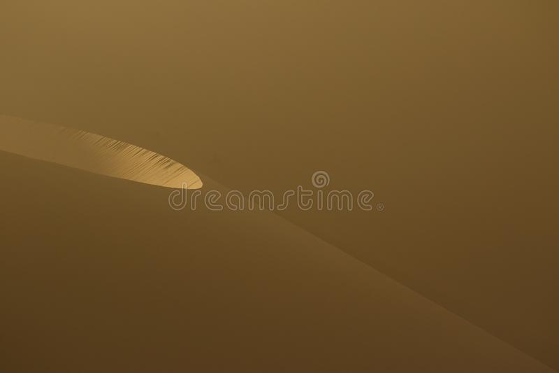 Dunes de sable pendant le matin dans le désert de Namib image libre de droits