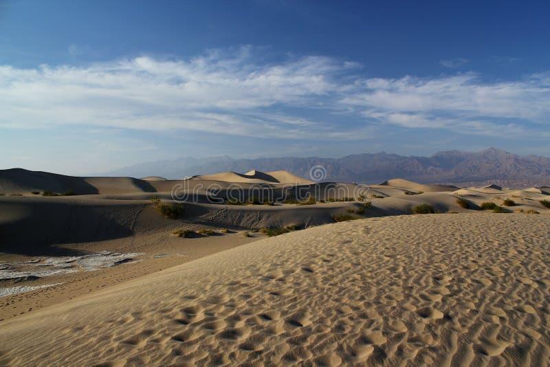 Dunes de sable plates de belle mesquite en parc national de Death Valley/Californie/Etats-Unis image libre de droits