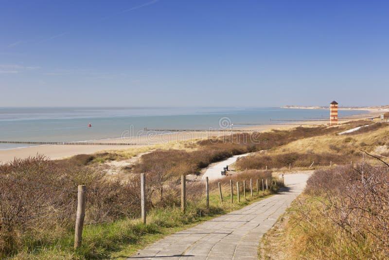 The dunes at Dishoek in Zeeland, The Netherlands royalty free stock image