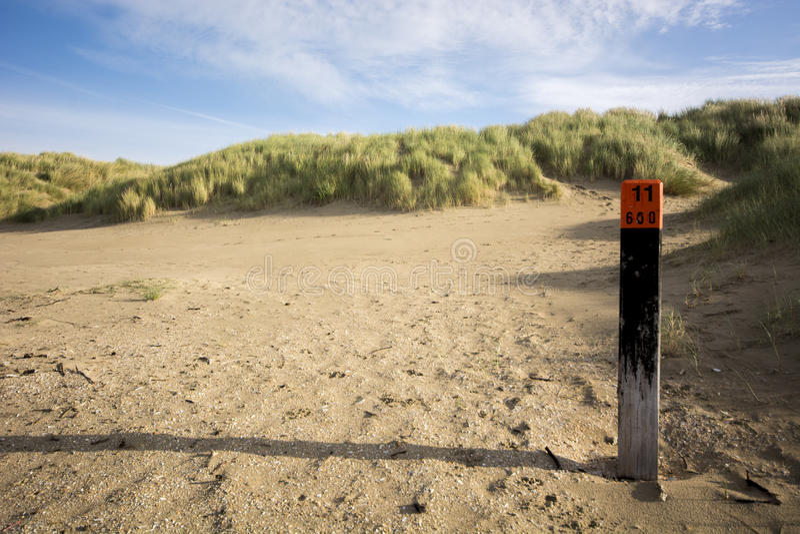 Dunes IV. Dunes nearby the North Sea. The beach of Rockanje stock photo