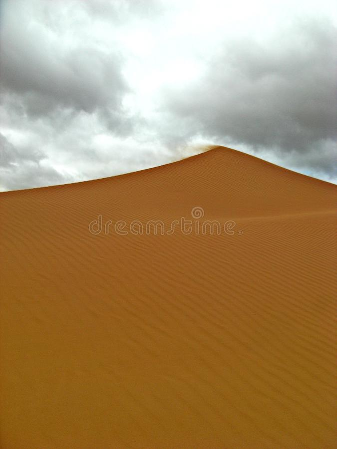 Dunes in the moroccan sahara desert royalty free stock photo