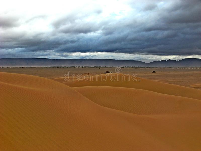 Dunes in the moroccan sahara desert royalty free stock image