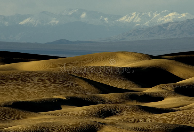 Dunes and Mountains stock images