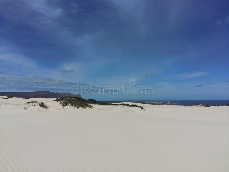 Dunes and sea royalty free stock photo