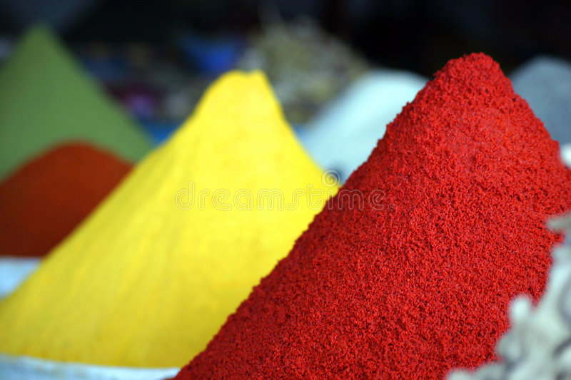 Dunes of spices stock images