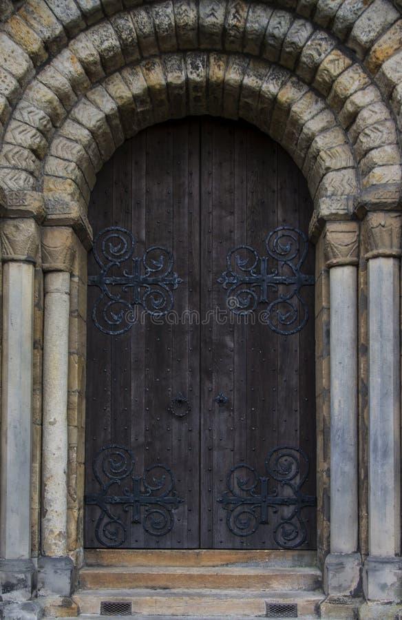 Dunfermline修道院,大门 库存照片