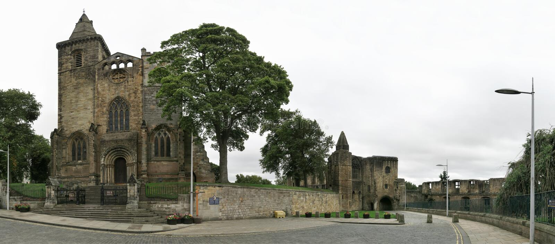 Dunfermline宫殿&修道院废墟在苏格兰 免版税库存图片