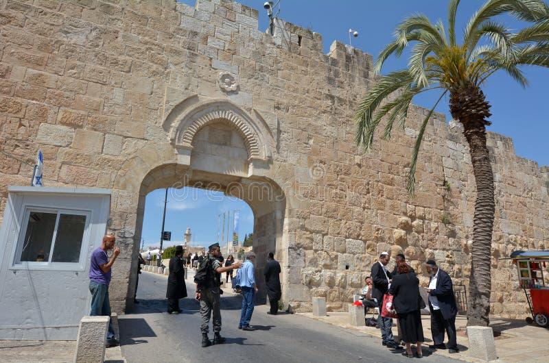 Dung Gate in der alten Stadt von Jerusalem - Israel lizenzfreie stockfotografie