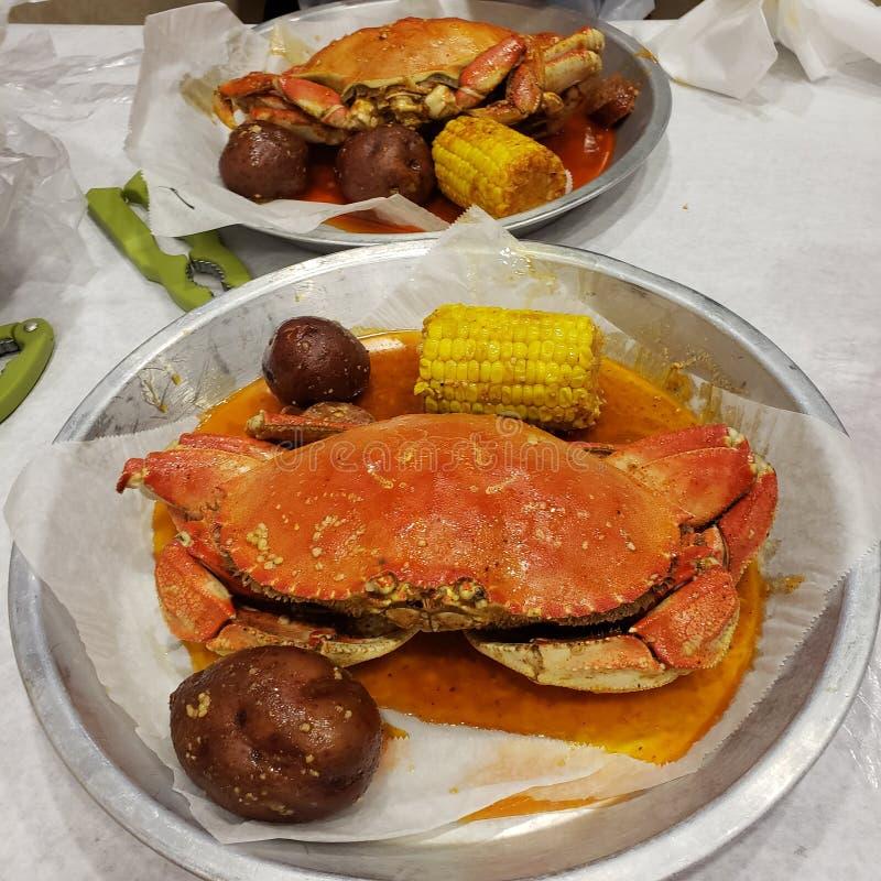 Dungeness Crab Potato Seafood Boil foto de stock royalty free