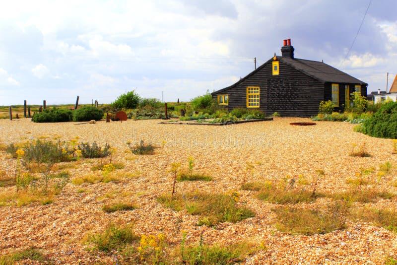 Dungeness-Naturreservathäuschen Kent England stockfotos