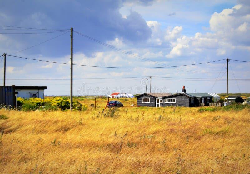 Dungeness rezerwata przyrody widok Kent Anglia zdjęcia stock