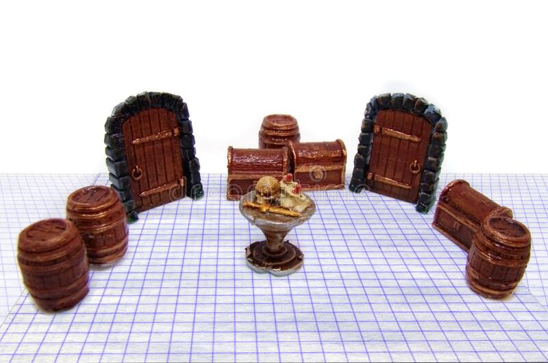Dungeon adventures role playing game stock photo