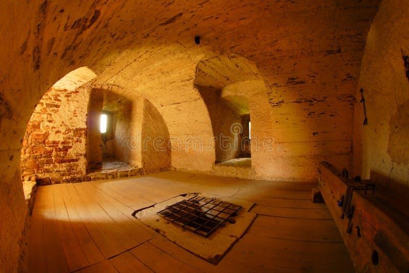 Dungeon del castillo de Pernstejn fotografía de archivo libre de regalías