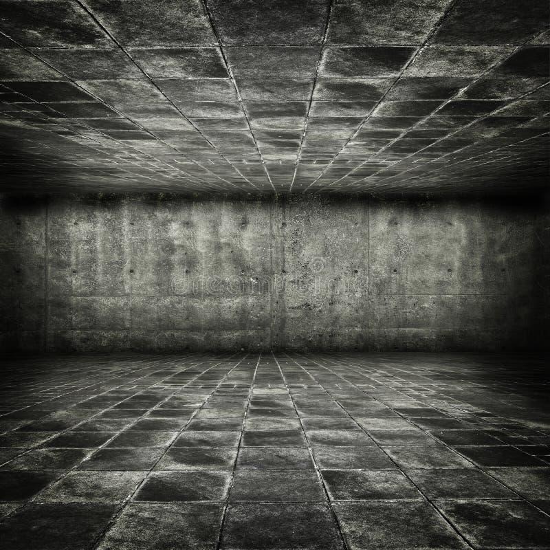 Dungeon di pietra grungy di stile del gioco immagini stock libere da diritti