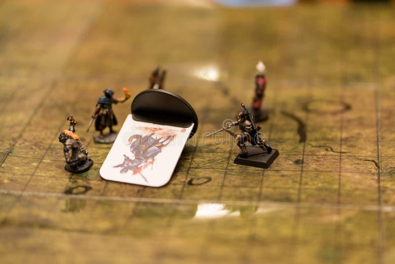 Dungeon et Dragons, jeu en cours photos libres de droits
