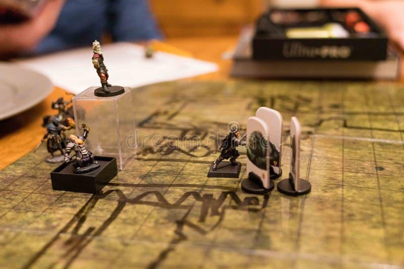 Dungeon et Dragons, jeu en cours image libre de droits