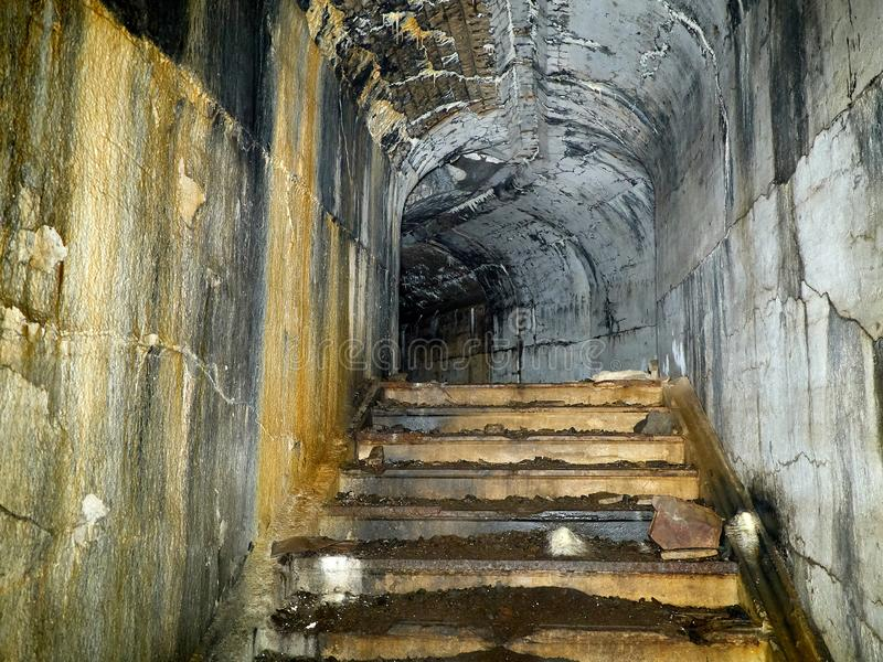 Fort of Vladivostok fortress. In the dungeon of the fort of Vladivostok fortress stock photography