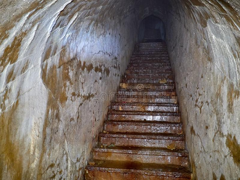 Fort of Vladivostok fortress. In the dungeon of the fort of Vladivostok fortress stock image